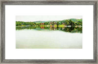 Cloudy Day On The Lake Framed Print
