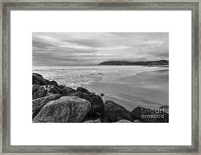 Cloudy Day On The Pacific Framed Print