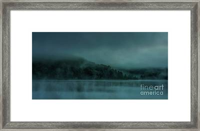 Cloudy Daybreak At The Lake Framed Print by Thomas R Fletcher