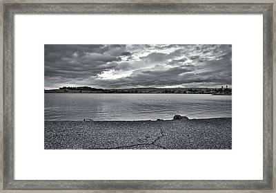 Cloudy East Bay Hills From The Bay Framed Print