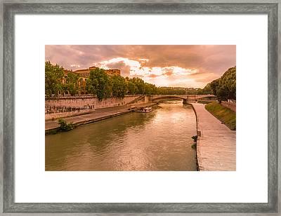 Cloudy Evening Over Tiber Framed Print