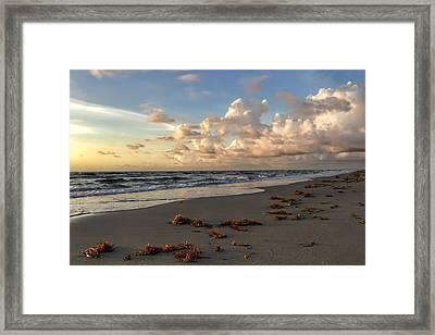 Cloudy Horizon  Framed Print