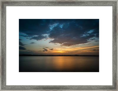 Framed Print featuring the photograph Cloudy Lake Sunset by Todd Aaron
