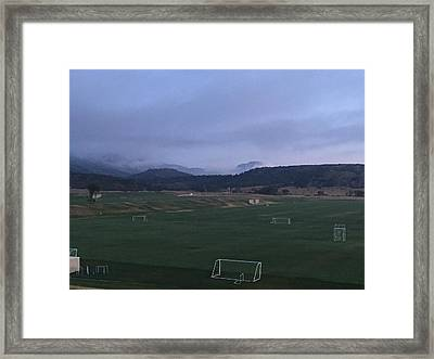 Cloudy Morning At The Field Framed Print