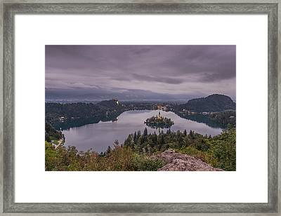 Cloudy Morning Framed Print by Robert Krajnc