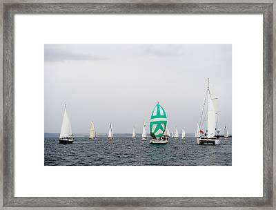 Cloudy Race Day Framed Print by Tom Dowd