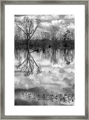 Cloudy Reflection Framed Print by Hitendra SINKAR
