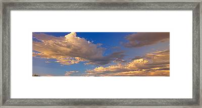 Cloudy Sky In Oregon Framed Print