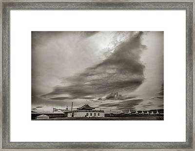 Cloudy Sky, Karakorum, 2016 Framed Print by Hitendra SINKAR