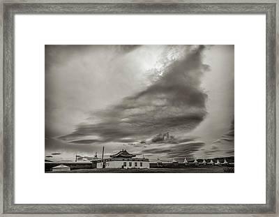 Framed Print featuring the photograph Cloudy Sky, Karakorum, 2016 by Hitendra SINKAR