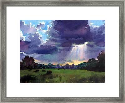 Cloudy Sky Framed Print by Sergey Zhiboedov