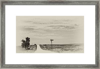 Cloudy Skys And Dirt Roads Framed Print