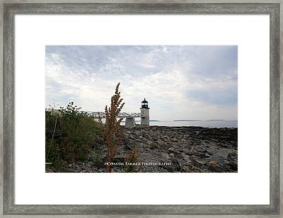 Cloudy Summer Day Framed Print by Becca Brann