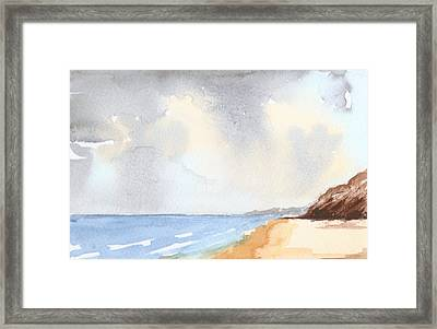 Cloudy Summer Sky Framed Print by Jim Green