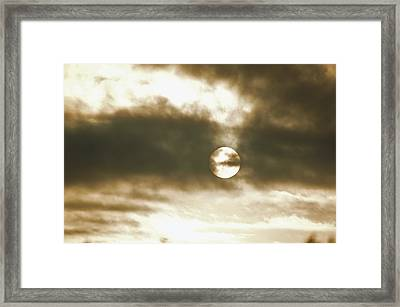 Cloudy Sun Framed Print