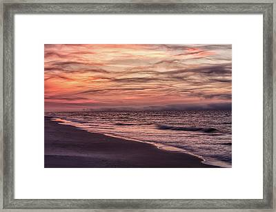 Framed Print featuring the photograph Cloudy Sunrise At The Beach by John McGraw