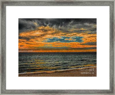 Cloudy Sunrise Framed Print by Dave Bosse