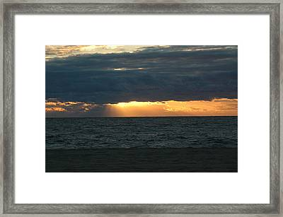 Cloudy Sunrise Framed Print by See Me Beautiful Photography