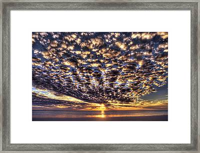 Cloudy Sunset Framed Print by Adam Krawczyk