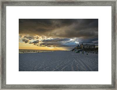 Cloudy Sunset Framed Print by Kevin Ruck