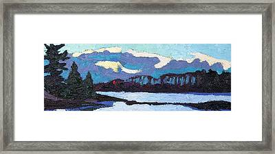 Cloudy Sunset Framed Print by Phil Chadwick