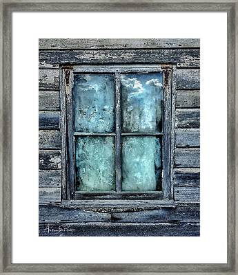 Cloudy Window Framed Print