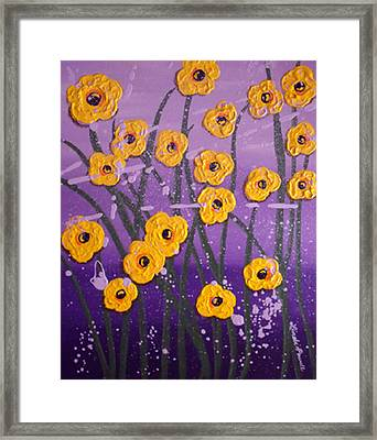 Cloudy With A Chance Of Flowers Framed Print by Linda Powell