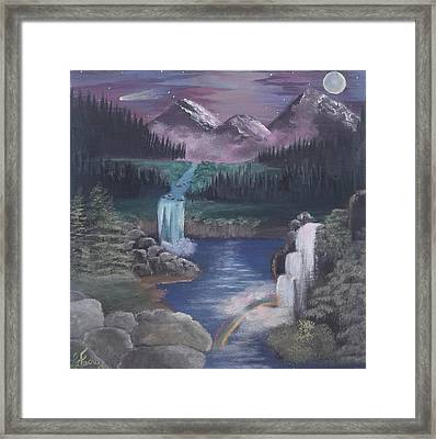 Cloudy With A Chance Of Rainbows Framed Print