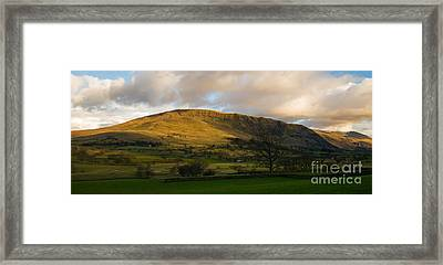 Clough Head At Sunset Framed Print by John Collier