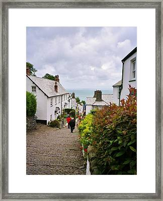 Clovelly High Street Framed Print