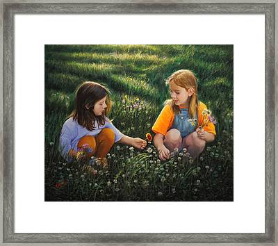Clover Field Surprise Framed Print