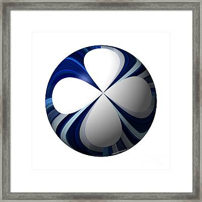 Clover Planet Framed Print