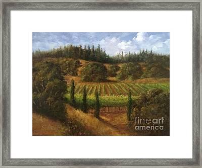 Cloverdale Vines Framed Print by Gail Salituri