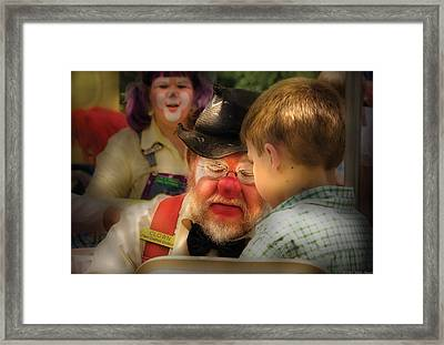 Clown - Face Painting Framed Print by Mike Savad
