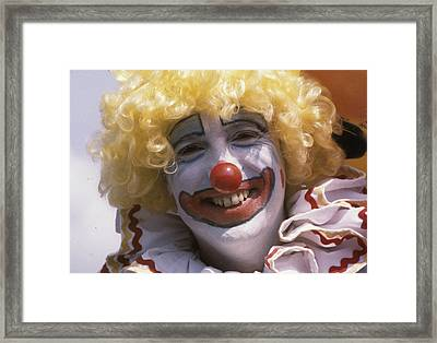 Framed Print featuring the photograph Clown-1 by Donald Paczynski