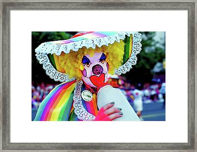 Clown 2 - Pioneer Day Parade  Framed Print by Steve Ohlsen