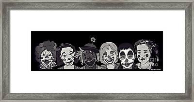 Clown Alley Black Lavender Framed Print by Megan Dirsa-DuBois