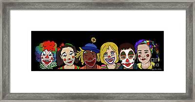 Clown Alley By Megan Dirsa-dubois Framed Print by Megan Dirsa-DuBois