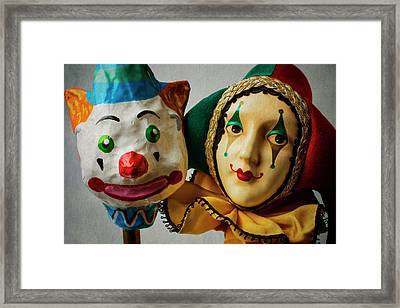 Clown And Jester Framed Print by Garry Gay