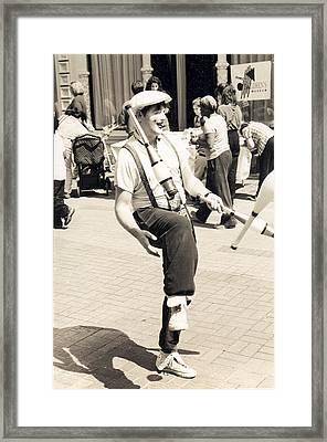 Clown At Work Framed Print by Emery C Graham Jr