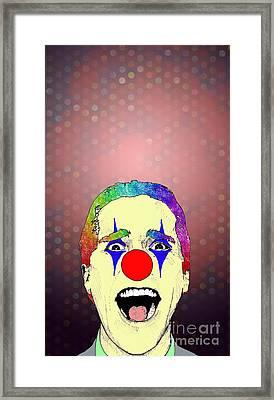 clown Christian Bale Framed Print by Jason Tricktop Matthews
