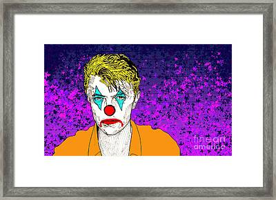 Clown David Bowie Framed Print by Jason Tricktop Matthews