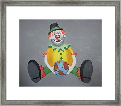 Clown Eleven Framed Print by Frank Parrish