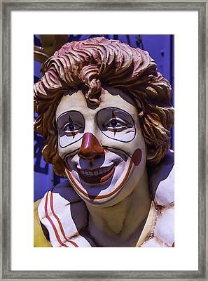 Clown Face Framed Print
