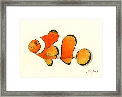 Clown Fish Framed Print