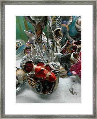 Clown Fish With Animated Coral Framed Print