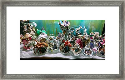 Clown Fish With The Group Of New Friends Framed Print