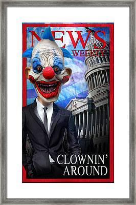 Clown In Washington Framed Print