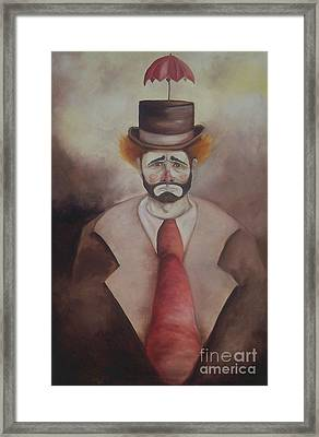 Clown Framed Print by Marlene Book