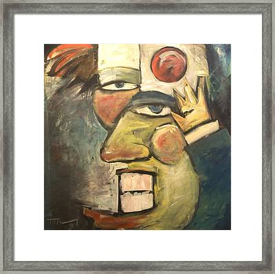 Clown Painting Framed Print by Tim Nyberg